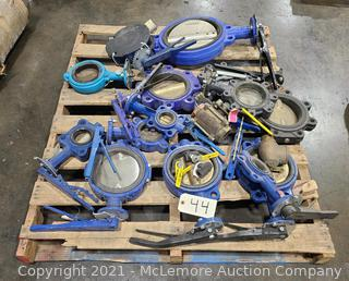 Pallet of Butterfly Valves and Misc. Valves