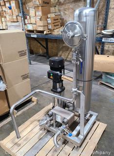 All Stainless Steel Pressure Pump with Heat Exchanger and Tank