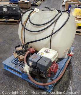 125 Gallon Sprayer Tank with Pump, Sprayers, Nozzles, and Accessories