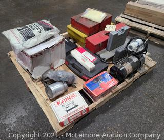 Pallet of Tools, Air Tools, Tool Boxes, Hardware, and Misc. Items