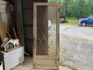 """Antique Screen Door 35""""x80"""""""