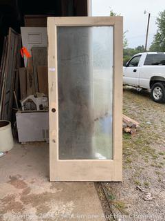 Antique Double Pane Window Door