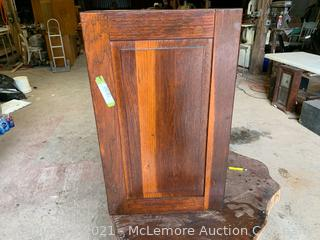 Antique Hammacher Schlemmer hardware in Tool Display Case, Dovetailed Oak