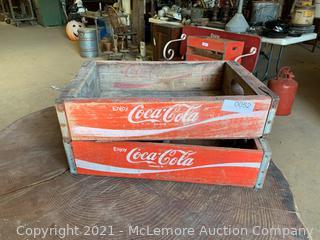 2 Large Coke Crates