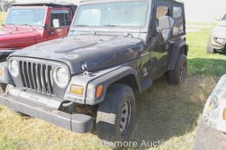 1997 Black Jeep Wrangler 2.5L 5sp VIN 1J4FY29P5VP521772 - BILL OF SALE ONLY