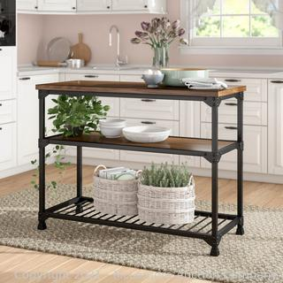 Delesha Multifunction Prep Table with Wood Top by Gracia Oaks -36.25'' H x 48'' W x 20'' D -  $225.67 - NEW - SEE LINK