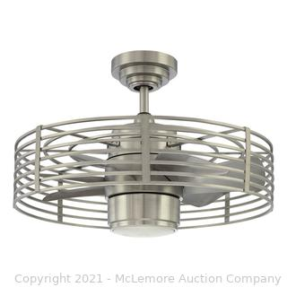 Enclave 23 in. Satin Nickel LED Ceiling Fan with Light and Wall Control by kendal Lighting - $578.55 - NEW - SEE LINK