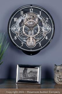 WiddopBlack Rhythm Magic Motion Clock - Tells Time. Temp. Humidity - $449 - MUST SEE LINK! - NEW
