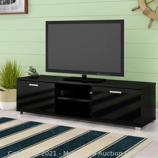 """Black Loesch TV Stand for TVs up to 70"""" by Ebern Designs -55.1'' x 13.7'' H x 15.7'' -  $189.99 - NEW - SEE LINK"""