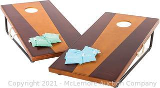 Viva Sol 2'x4' Cornhole Set - Includes 2 Premium All-Wood Cornhole Boards and 8 All-Weather Canvas Cornhole Bags