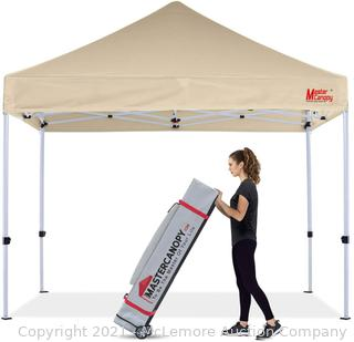 MASTERCANOPY Pop Up Canopy Tent Commercial Grade 10x10 Instant Shelter (Beige)