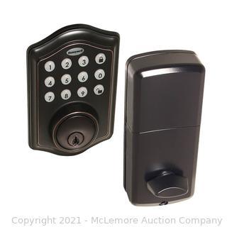 Honeywell Safes & Door Locks - 8712409 Electronic Entry Deadbolt with Keypad. Oil Rubbed Bronze