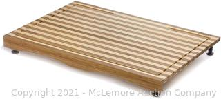 Prosumer�s Choice Bamboo Stovetop Cover and Countertop Cutting Board w/Adjustable Legs � Large