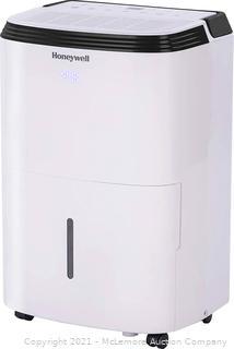 Honeywell. White TP50WK Energy Star Dehumidifier for Medium Basement & Living Room up to 3000 Square Feet with Anti-Spill Design & Filter Change Alert. 30-Pint