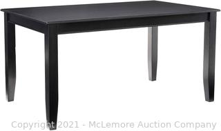 East West Furniture DUT-BLK-T Rectangular Dining Table 36 60-Inch Black Finish Inch Inch