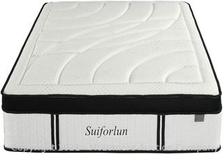 Suiforlun 14 Inch Hybrid Gel Memory Foam and Innerspring Mattress with Bamboo Cover.  Euro Top Luxury Mattress with 7 Premium Layers.  Pressure Relief.  CertiPUR-US Certified.  King