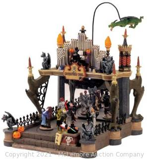 Lemax Spooky Town Village Collection Monsters Ball Animated Table Piece #54302