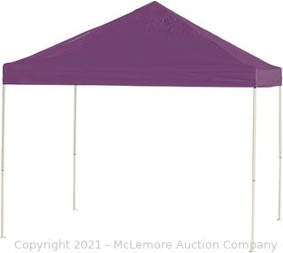 ShelterLogic Easy Set-Up 10 x 10-Feet Straight Leg 50+ UPF Protection Pop-Up Canopy with Roller Storage Bag for the Beach. Park. Tailgating. and Other Outdoor Activities Without Top Only The Base
