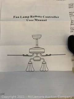 Vintage Style Ceiling Fan Light white 52''