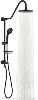 """Shower System with 8"""" Rain Shower Head. 5-Function Shower Head with Handheld. Adjustable Slide Bar. 59"""" Stainless Steel Hose. Oil Rubbed Bronze"""