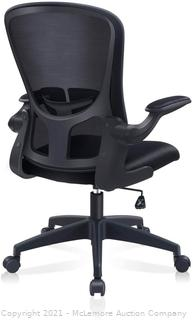 Office Chair. FelixKing Ergonomic Desk Chair with Adjustable Height. Swivel Computer Mesh Chair with Lumbar Support and Flip-up Arms. Backrest with Breathable Mesh (Black)