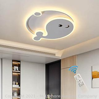 Oninio LED Ceiling Light Dimmable.45W Modern Flush Mount Ceiling Lamps with Remote.LED Cartoon Dolphin Creative Chandelier Lighting for Children's Room Bedroom Living Room Study. Parts Unverified