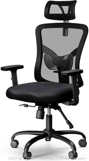 NOBLEWELL Ergonomic Office Chair High Back Mesh Computer Chair with Lumbar Support Adjustable Armrest. Backrest and Headrest