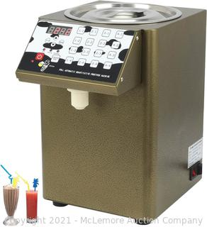 Automatic Fructose Dispenser. 330W 8000CC/ 2.11GAL Stainless Steel Syrup Dispenser Bubble Tea Equipment Fructose Quantitative Machine 110V