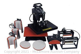 "8 in 1 Multi-function Heat Press Machine 15"" x 15"" T-Shirts Cap Mug"