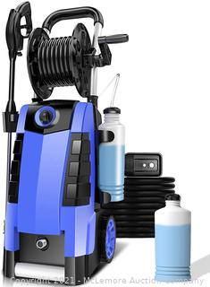 Electric Pressure Washer. TEANDE Power Washer 1800W Machine for Cars Fences Patios Garden Cleaning With Hose Reel