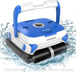 PAXCESS Wall-Climbing Automatic Pool Cleaner with Twin Large 180um Filter Basket.Tangle-Free Cord Up to 50 Feet.Robotic Pool Cleaner.Do Intelligent Cleaning.Suit for Above/In-ground Swimming Pool