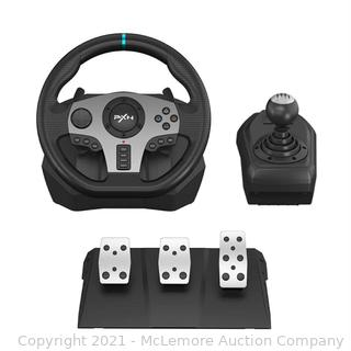 PC Steering Wheel. PXN V9 Universal Usb Car Sim 270/900 degree Race Steering Wheel with 3-pedal Pedals And Shifter Bundle for Xbox One.Xbox Series X/S.PS4. PS3. Nintendo Switch
