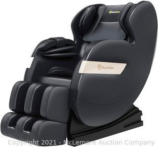 Real Relax Massage Chair. Full Body Zero Gravity Shiatsu Massage Recliner with Bluetooth Heat Foot Roller. FAVOR-03 Plus(Black)