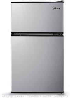 Midea 3.1 Cu. Ft. Compact Refrigerator. WHD-113FSS1 - Stainless Steel