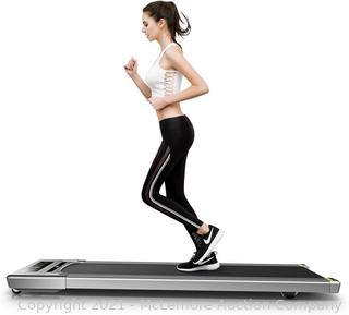 RHYTHM FUN Treadmill Under Desk Treadmill Folding Portable Walking Treadmill with Wide Tread Belt Super Slim Mini Quiet Slow Running Treadmill with Smart Remote and Workout App for Home and Office