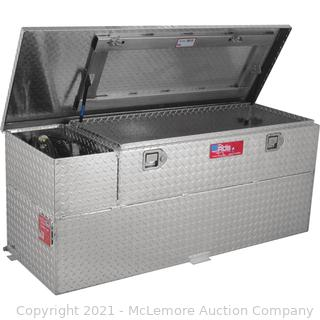RDS Aluminum Transfer Fuel Tank Toolbox Combo with GPI 12V Fuel Transfer Pump � 60-Gallon. Rectangular. Diamond Plate. 8 GPM. Model# 73326