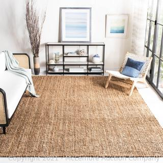 "Safavieh - Grassmere Handmade Jute/Sisal Natural Area Rug - Natural Color  - Rug Size: Rectangle 7'6"" x 9'6"" - Brand New - $263.64 - See Link"