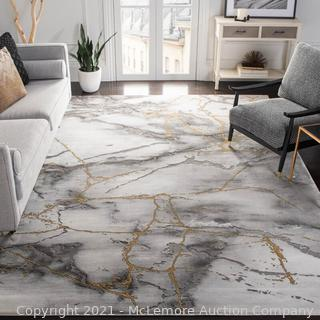 Safavieh - Rug Size: Rectangle 8' x 10' - Coupland Abstract Gray/Gold Area Rug - New - $325 - SEE LINK