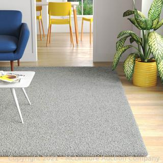 "Wayfair Basics - Rug Size: Rectangle 6'11"" x 9'10"" - Shag Gray Area Rug - NEW - SEE LINK"