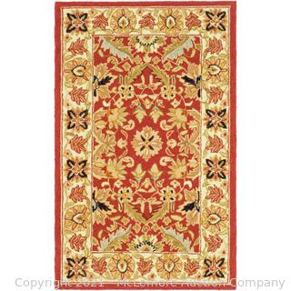 """Safavieh - Rug Size: Rectangle 2'6"""" x 4' - Chelsea Oriental Hand Hooked Wool Red/Ivory Area Rug - new - $43 - See Link"""