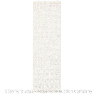 "Safavieh - Rug Size: Runner 2'3"" x 14' -Krantz Handmade Flatweave Bleach Area Rug - New - See link - $182"