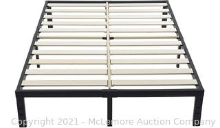 ZIYOO 14 Inch California King Platform Bed Frame 3500lbs Heavy Duty Metal Bed Frame with Wooden Slats for Mattress Foundation. No Box Spring Needed
