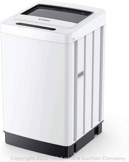 Colzer 1.6 Cu.ft Portable Washing Machine. Fully Automatic Compact Washer with 8 Wash Programs 6 Water Level. 11lbs Large Capacity Laundry Washer with Drain Pump for Apartments. RV. Camping. White