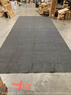 "Felt Carpet Mat With Black Plastic Backing- 194"" x 91"" (17'x7'7). Grey"
