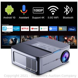 Artlii Play3 Smart Projector Native 1080P 340 ANSI with Android 10 System. 4K Supported. Google Voice Assistant. 5G WiFi and Bluetooth