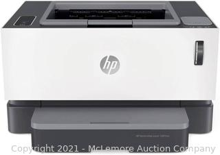 HP Neverstop 1001nw Wireless Mono Laser Printer with Cartridge-Free Toner Tank. comes with up to 5.000 pages of toner in the box (5HG80A)