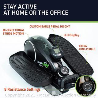 DeskCycle Ellipse Under Desk Elliptical Machine. Compact Mini Seated Elliptical Desk Exercise Equipment. Desk Cycle Pedal Exerciser. Black