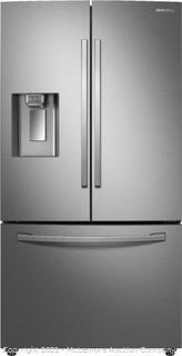 Samsung Stainless Steel - 28 cu. ft. 3-Door French Door Refrigerator in Fingerprint Resistant Stainless Steel with CoolSelect Pantry - mfg # RF28R6201SR - Brand New - Factory Sealed In Box - $2429 at Home Depot Now - SEE LINK