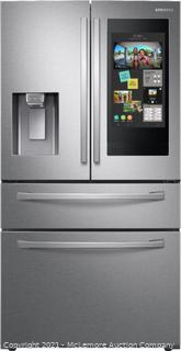 Samsung - Family Hub 22.2 Cu. Ft. 4-Door French Door Counter-Depth Fingerprint Resistant Refrigerator - Stainless Steel with 21.5in touch Screen - mfg # RF22R7551SR - Brand New - Factory Sealed in Box - $3509 at Best Buy Now - See Link