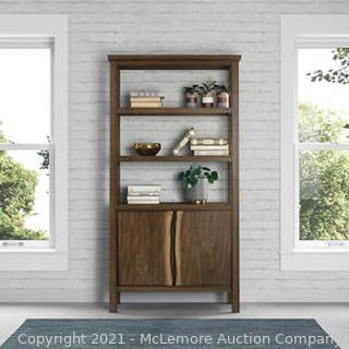 """Pike and Main 72"""" Bookcase with Mahogany Solids and Trembasi veneers with Distressed Finish - NEW - $349 - see link"""